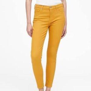 Loft Mustard Yellow Modern Skinny Cropped Pant